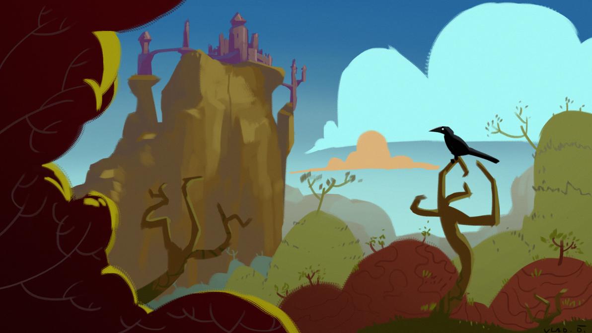 Perched Crow by saltytowel