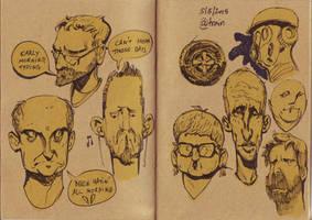Train Sketches by saltytowel