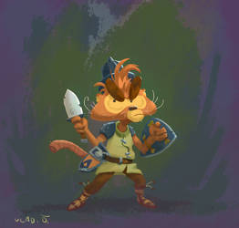 Rodent Warrior by saltytowel