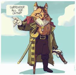 Pirate Cat by saltytowel