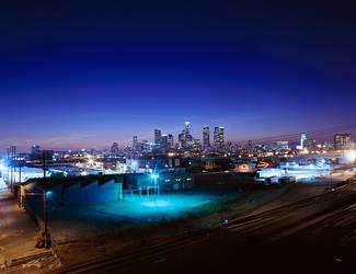 skyline LA by seeier