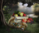 Two Little Squirrels by saperlipop