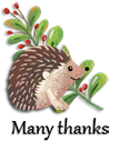 Autumn Hedgehog Many Thanks
