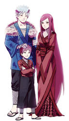Tobirama senju, Himeko uzumaki and their son