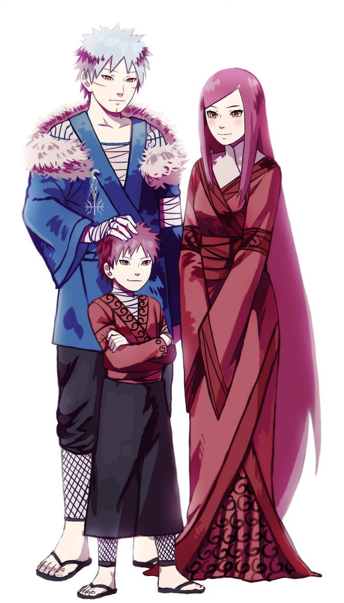 Relations de Minato Tobirama_senju__himeko_uzumaki_and_their_son_by_daikai-d6mfk6m