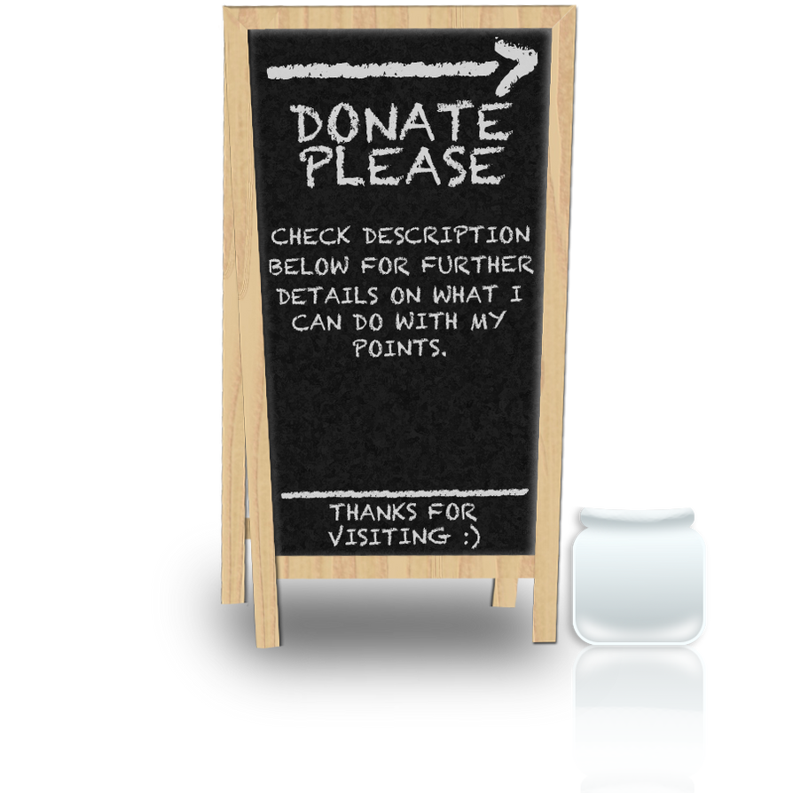 Points Donation Sign