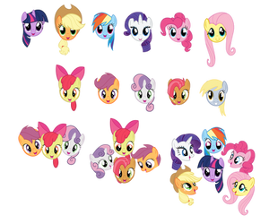 MLP Character Head Icons by LooneyTunerIan
