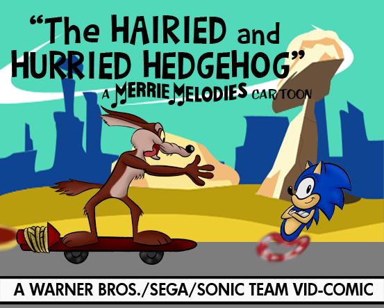 Sonic/Wile E. Vid-Comic Lobby Card (Color, V3) by LooneyTunerIan