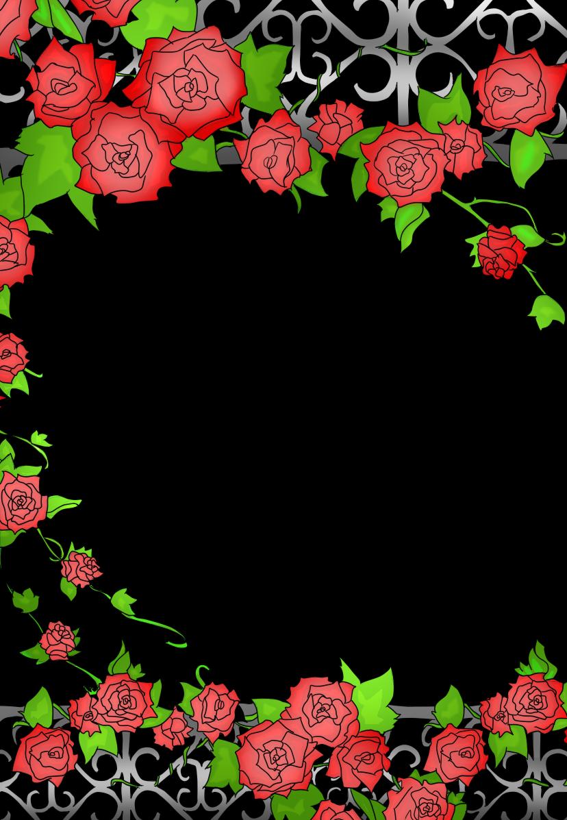 rose frame by NatiRozu on DeviantArt