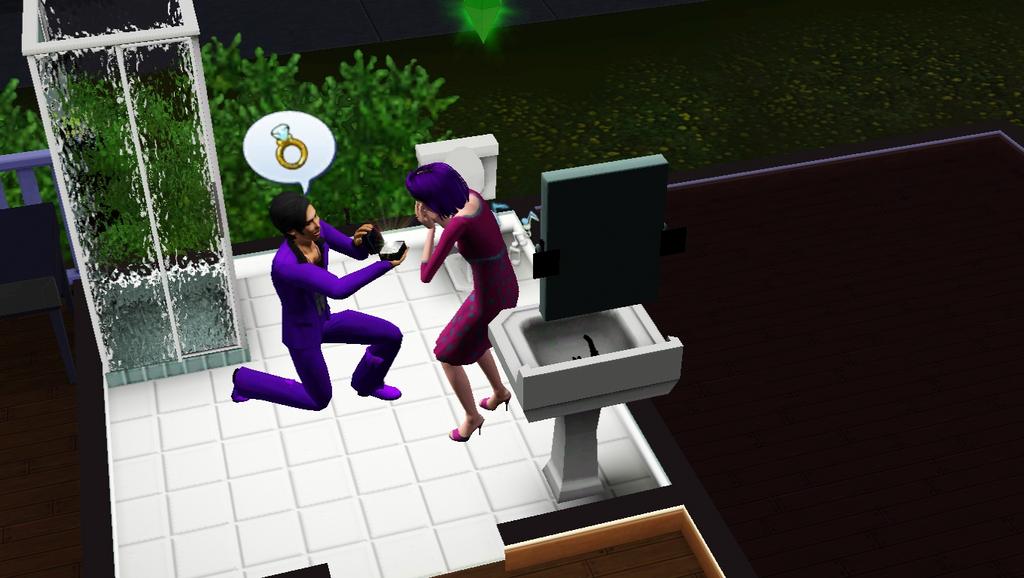 S3-A Purple Engagement by DestinyLovesShiva