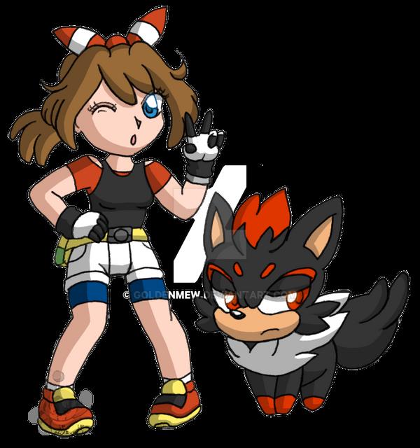 Pokemon trainer bibi mit zorua shadow by goldenmew on - Shadow the hedgehog pokemon ...