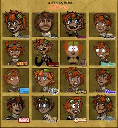 16 styles meme - Shimo by Narsilion