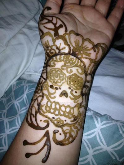 Skull Henna Tattoo: Henna Tattoo Of Sugar Skull By Solismele On DeviantArt