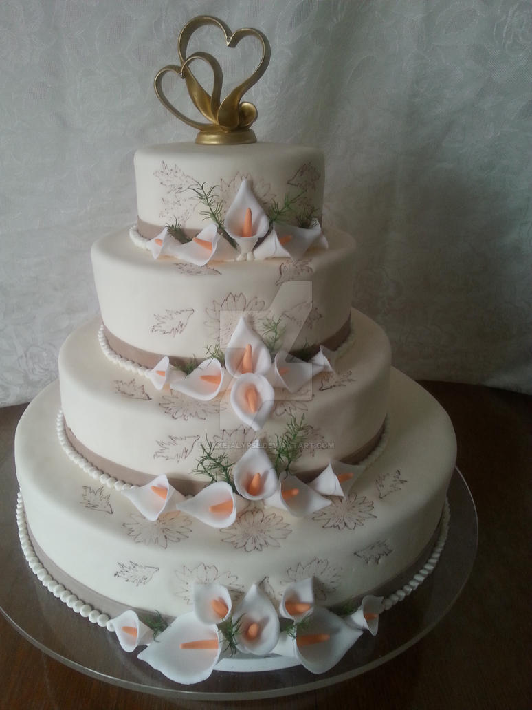 Wedding Cake 18 by Cake-alypse
