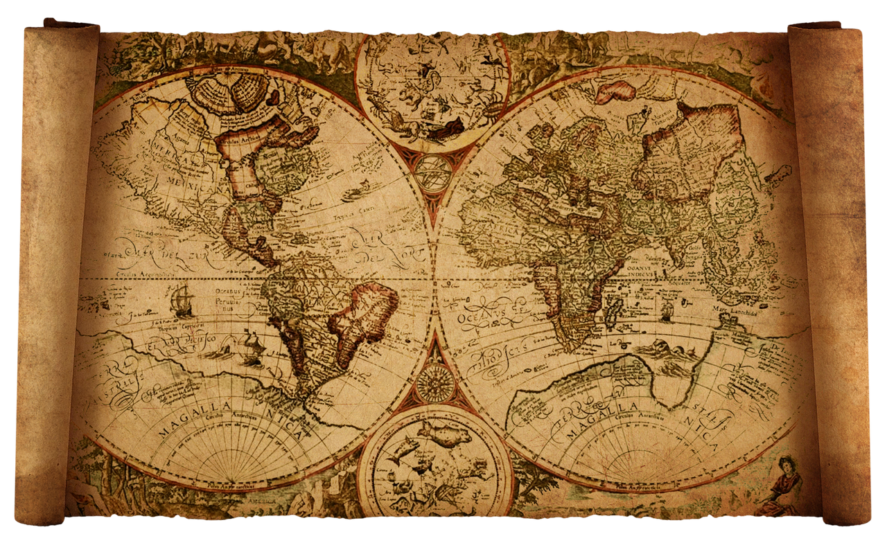 Vintage world map high resolution