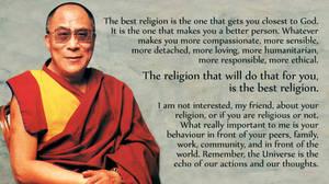 Dalai Lama on the best religion by HaniSantosa