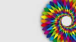 Rainbow Flower Wallpaper by HaniSantosa