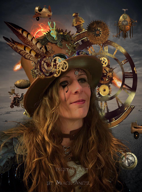 Steampunk Lady by MagicAngel8773