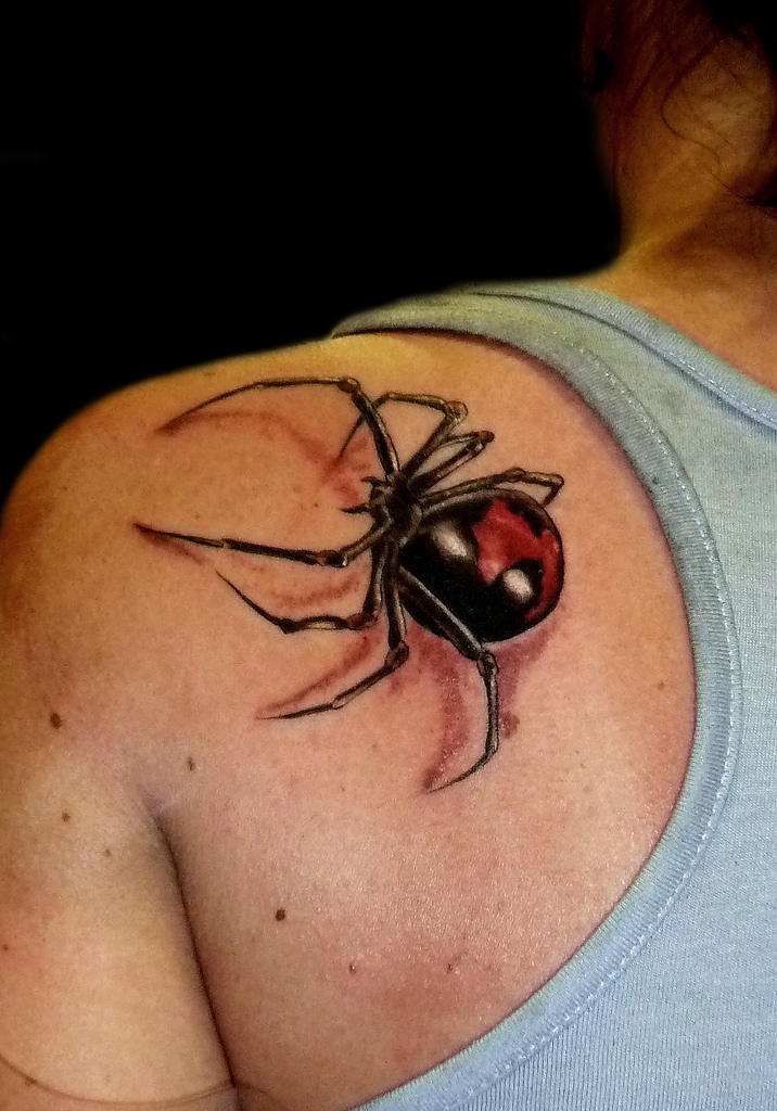 Black widow tattoo by natissimo on deviantart for Black widow spider tattoo