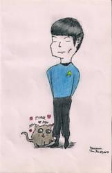 Spock Versus Kitten by OnyxWillow