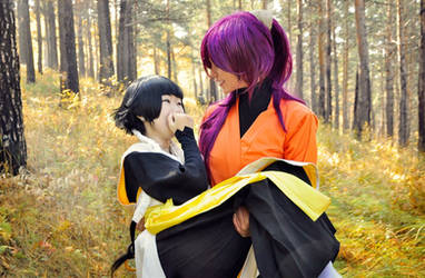 Bleach - Yoruichi Shihouin and Soi Fong by es-serath