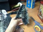 Realistic Wolf Ear WIP by RatTrapStudios