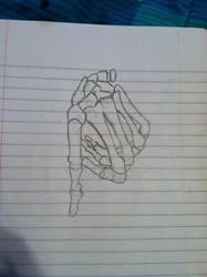 Human Skeletal Hand 1 by KylerAndrae