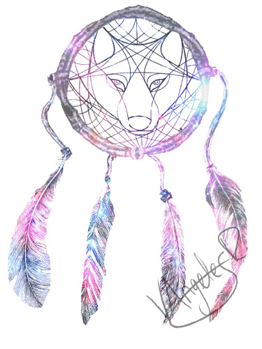 wolf dreamcatcher drawing related - photo #28