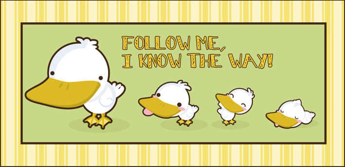 Follow the big Duck by SquidPig