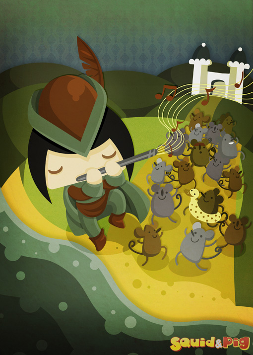 The Pied Piper of Hamelin by SquidPig