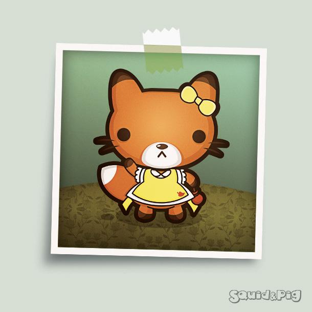 Meg the Fancy Foxy by SquidPig