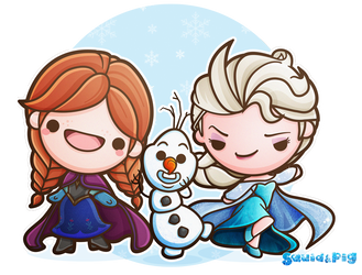 Kawaii Frozen by SquidPig