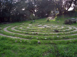 Labyrinth Circle by Synaptica-stock