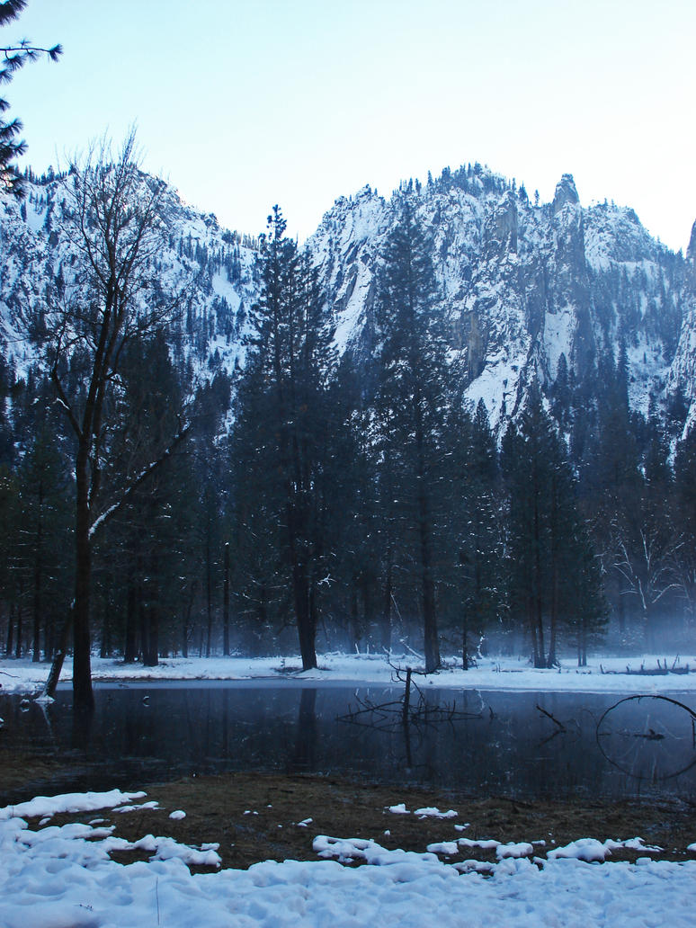 Winter Pond 3 - stock by Synaptica-stock