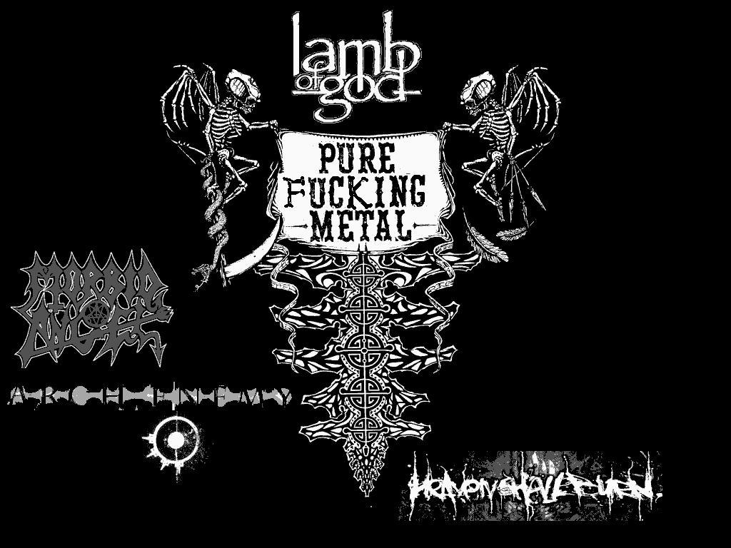 Pure Fucking Metal by lamb-of-god-fans on DeviantArt for Lamb Of God Flag Logo  113cpg