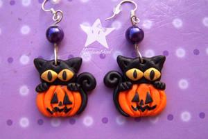 Cats_Earrings by missbeautifool