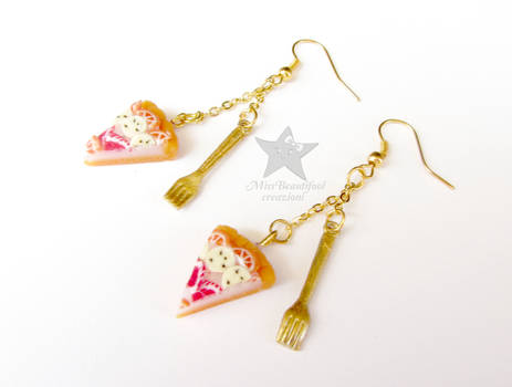 Fruit cake earrings