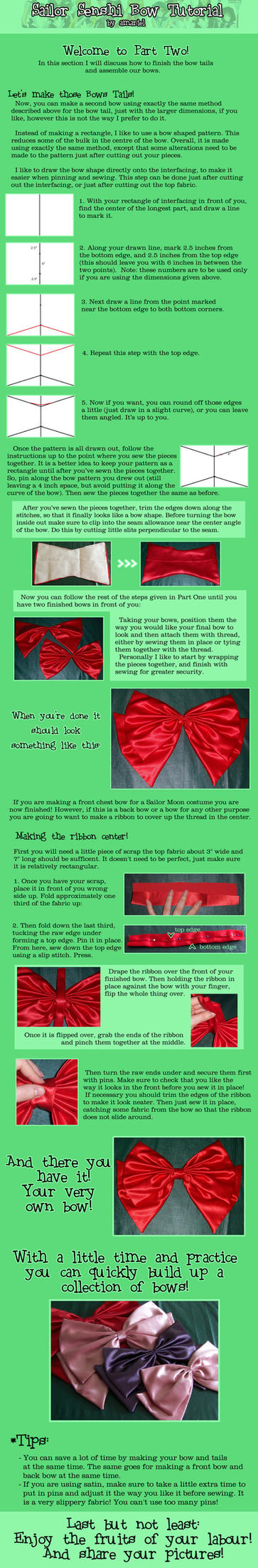 Sailor Senshi Bow Tutorial Two by amariel