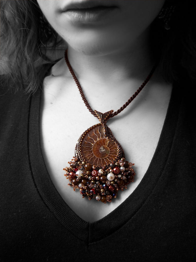 Bead embroidered ammonite pendant 2 by nikkichou on deviantart bead embroidered ammonite pendant 2 by nikkichou aloadofball Images