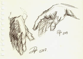 Hand quick sketches by TheAjsAx