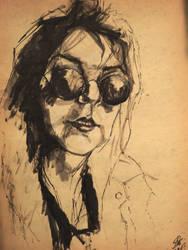 Self portrait in ink 2