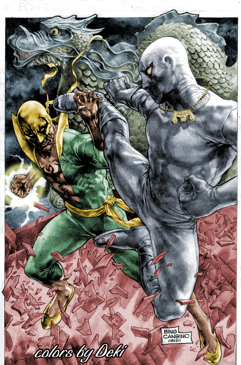 Iron fist and white tiger