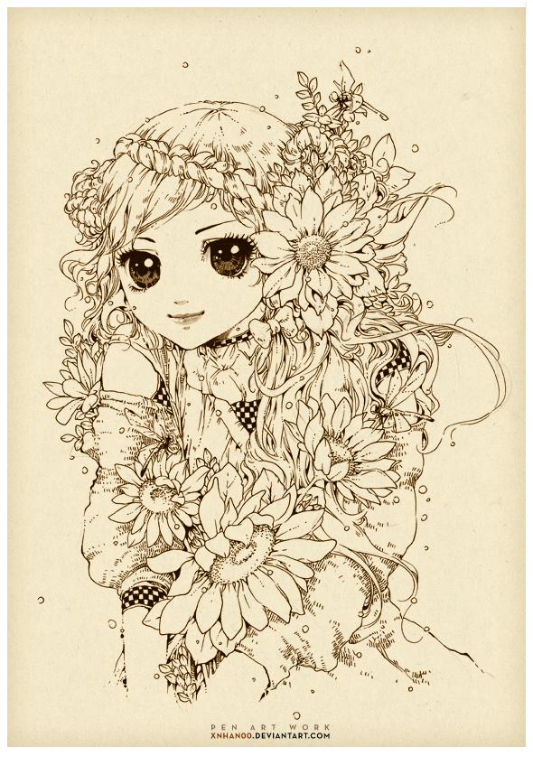 Sun-flower by xnhan00