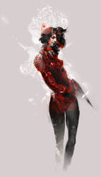 Warrior Red by xnhan00