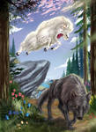 Sheep and Wolf by art2work