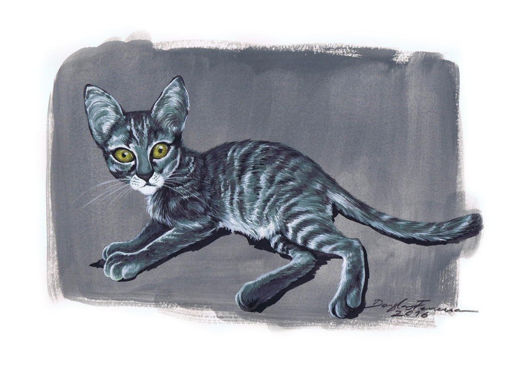 Little Cat made in gouache by art2work