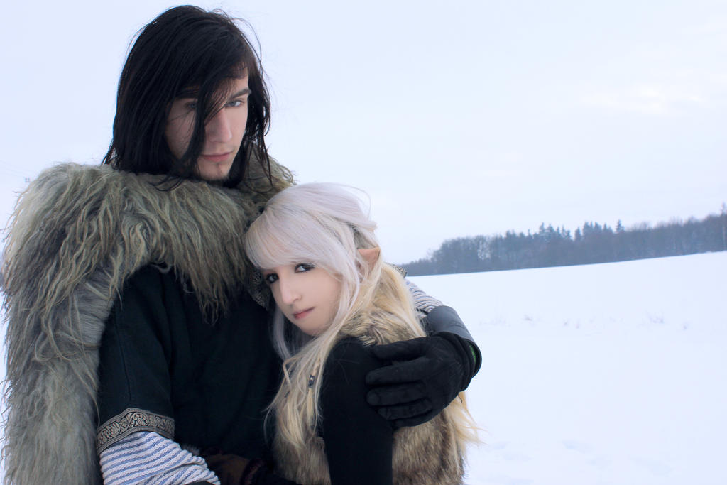 Couple Stock, snow elf+ viking by *Liancary-Stock