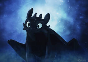 Toothless by Liancary-art