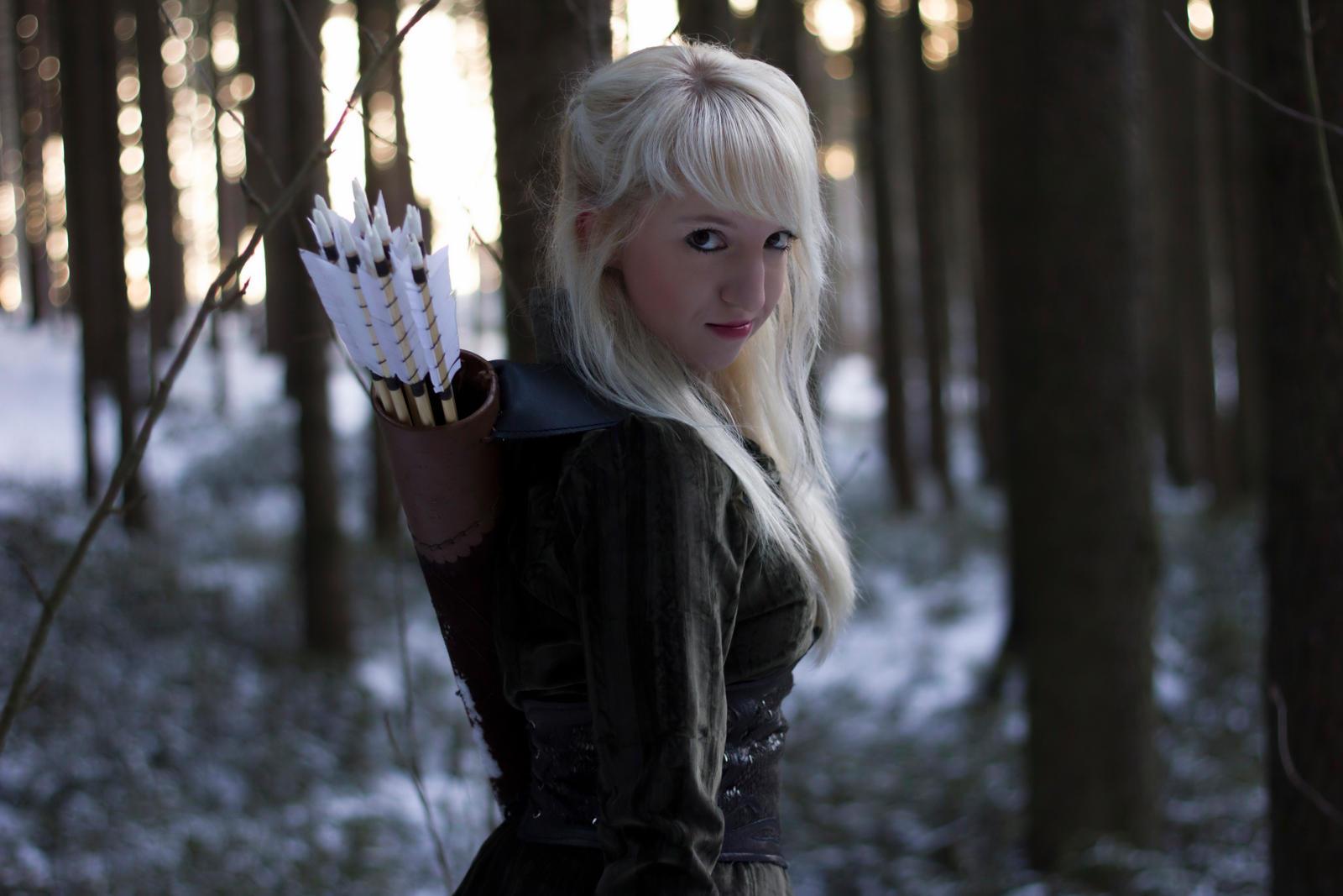 Silvan Elf - Stock  10 (she walks in starlight) by Liancary-art