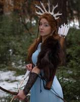 Skadi - winter goddess by Liancary-art
